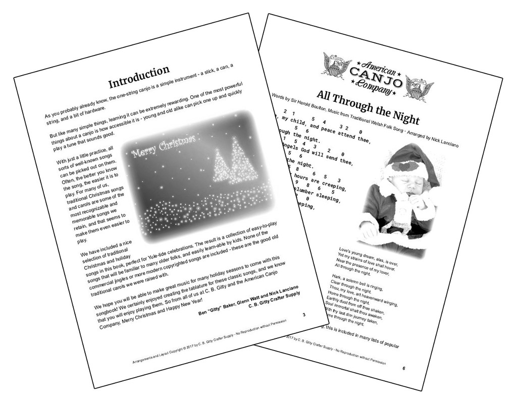 Christmas Canjo Songbook - Easy-to-play Tablature for 30 Traditional Carols & Songs (Printed Version)