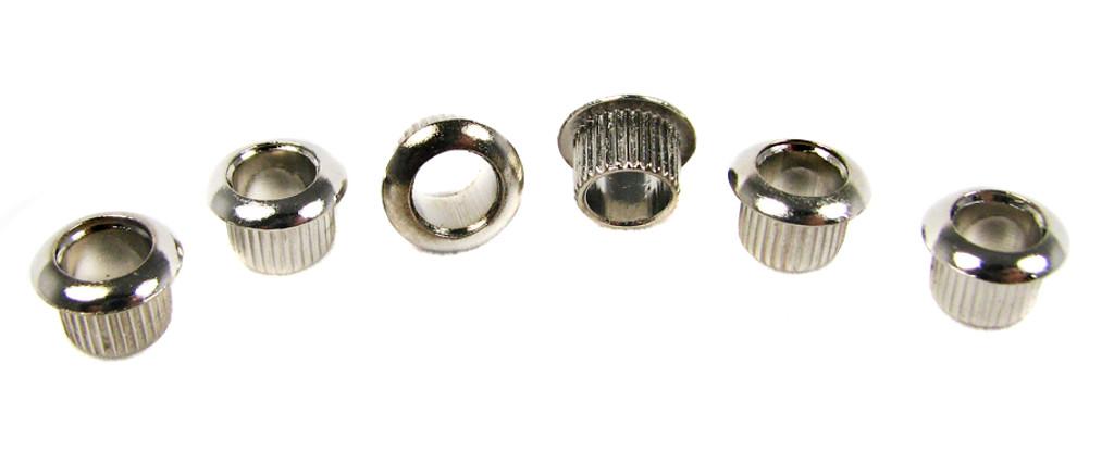 6pc. Nickel Press-Fit Tuner Bushings