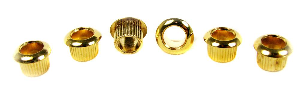 6pc. Gold Press-Fit Guitar Machine Head / Tuner Bushings