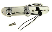 Chrome Pre-wired Pickup Selector with Volume, Tone and 3-way Switch