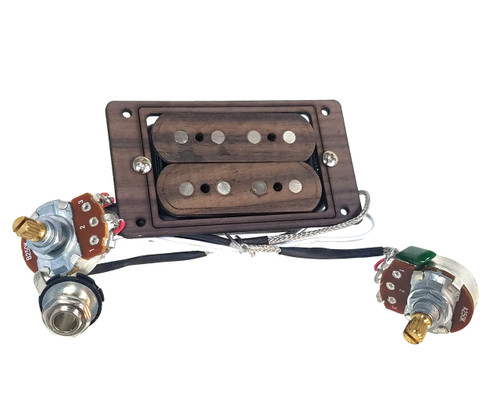 pre wired 4 string single coil pickup harness with volume and tone perfect for cigar box. Black Bedroom Furniture Sets. Home Design Ideas