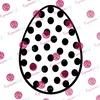 Polka Dot Egg Digital Cut File