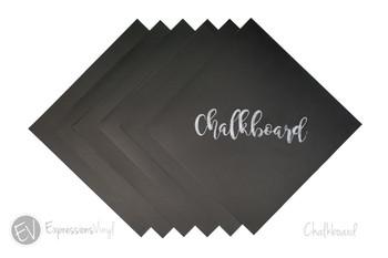 """Chalkboard 12""""x12"""" Vinyl Sheets"""