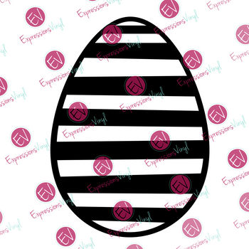 Striped Egg Digital Cut File