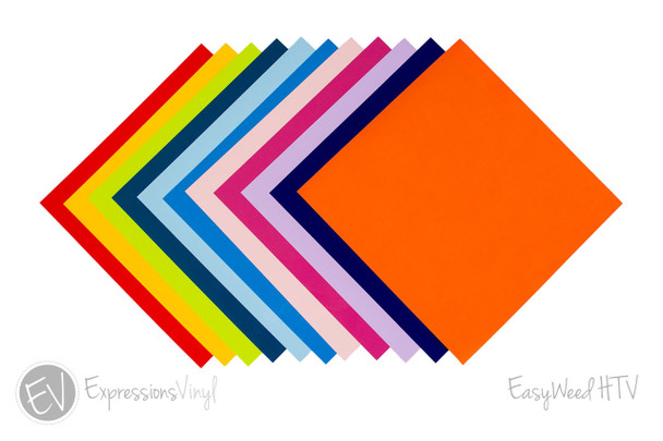 """EasyWeed Heat Transfer Vinyl Collection 12""""x12"""""""