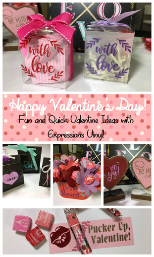 Be Mine, Valentine! Adhesive Vinyl Valentine Ideas
