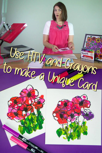 How to use Easyweed and Crayons to Make a Unique Card