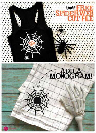 Spiderweb Monogram Cut File