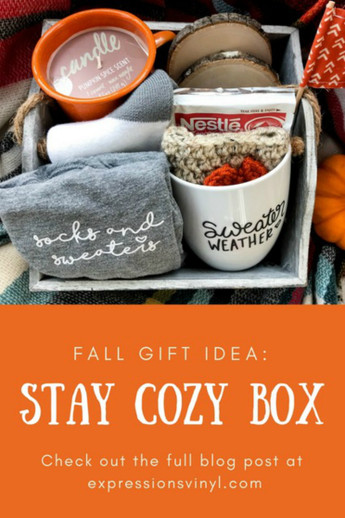 Stay Cozy Box with Vinyl Gifts