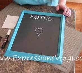 Chalkboard Vinyl Note Board