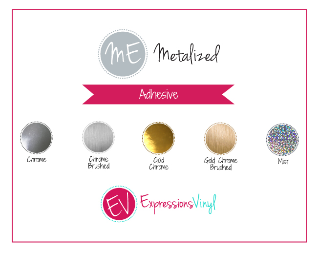 Metalized Adhesive Vinyl Color Chart