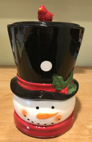Snowman Cookie Jar w/1lb of cookies