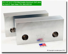 "6 x 3 x 1.5"" Aluminum Standard Soft Jaws for 6"" Vises"