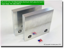 "6 x 6 x 1"" Aluminum Standard Soft Jaws for 6"" Vises (Out of Stock)"