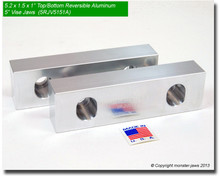 "5 x 1.5 x 1"" Top/Bottom Reversible Aluminum Jaws for 5"" Vises"