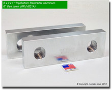 "6 x 2 x 0.75"" Top/Bottom Reversible Aluminum Jaws for 6"" Vises"