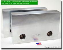 "8 x 5 x 1.5"" Aluminum Standard Soft Jaws for 8"" Vises"