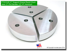 "12"" Aluminum American Standard Tongue & Groove Full Grip Round Jaws (2.0"" HT, 12"" Pie Diameter)"