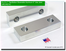"6 x 2 x 1"" Top/Bottom Reversible Aluminum Jaws for 6"" Vises"