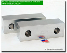 "6 x 2 x 2"" Top/Bottom Reversible Aluminum Jaws for 6"" Vises"