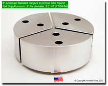 "8"" Aluminum American Standard Tongue & Groove Full Grip Round Jaws (3.0"" HT, 8"" Pie Diameter)"