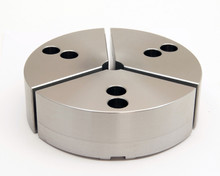 "5"" Steel Full Grip Round Jaws for B-205 Chucks (1.25"" HT, 5.5"" Pie diameter)"
