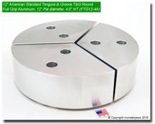 "12"" Aluminum American Standard Tongue & Groove Full Grip Round Jaws (4.0"" HT, 12"" Pie Diameter)"
