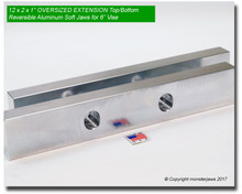 """12 x 2 x 1"""" Oversized Extension Top/Bottom Reversible Aluminum Jaws for 6"""" Vises"""