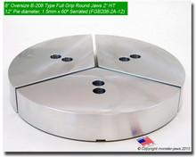 """8"""" Oversized Aluminum Full Grip Jaws for B-208 Chucks (2"""" HT, 12"""" Pie diameter)"""