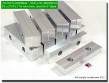 "10-Pack 8 x 2 x 1"" Oversized (Extension) Aluminum Vise Jaws Fits 6"" Vises"