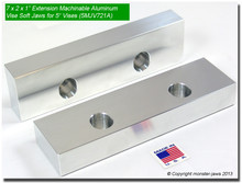 "7 x 2 x 1"" Oversized (Extension) Aluminum Soft Jaws  for 5"" Vises"