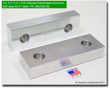 "6 x 2 x 1.5"" Aluminum Standard Soft Jaws for 6"" Vises"