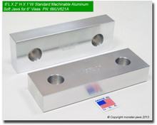 "6 x 2 x 1"" Standard Aluminum Machinable Soft Jaws for 6"" Vises"