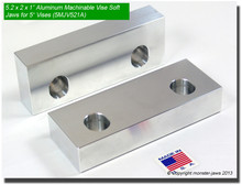 "5 x 2 x 1"" Aluminum Standard Soft Jaws for 5"" Vises"