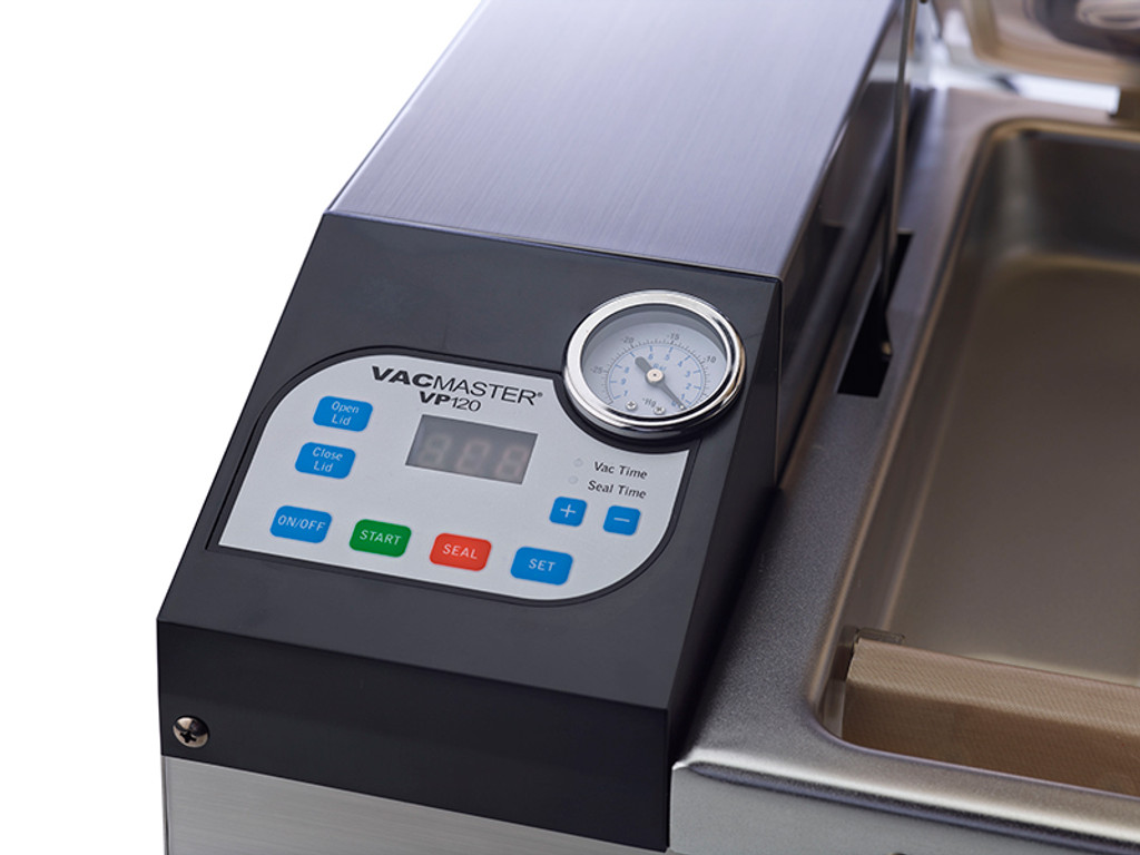 VacMaster VP120 sous vide chamber machine with easy controls