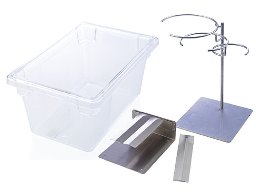 Sous Vide Accessory Kit – Bag Stand, Prep Plate & Water Tank
