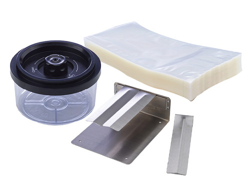 Suction Sealer Accessory Kit - Prep Plate, 1/2 Qt Canister, & Bags