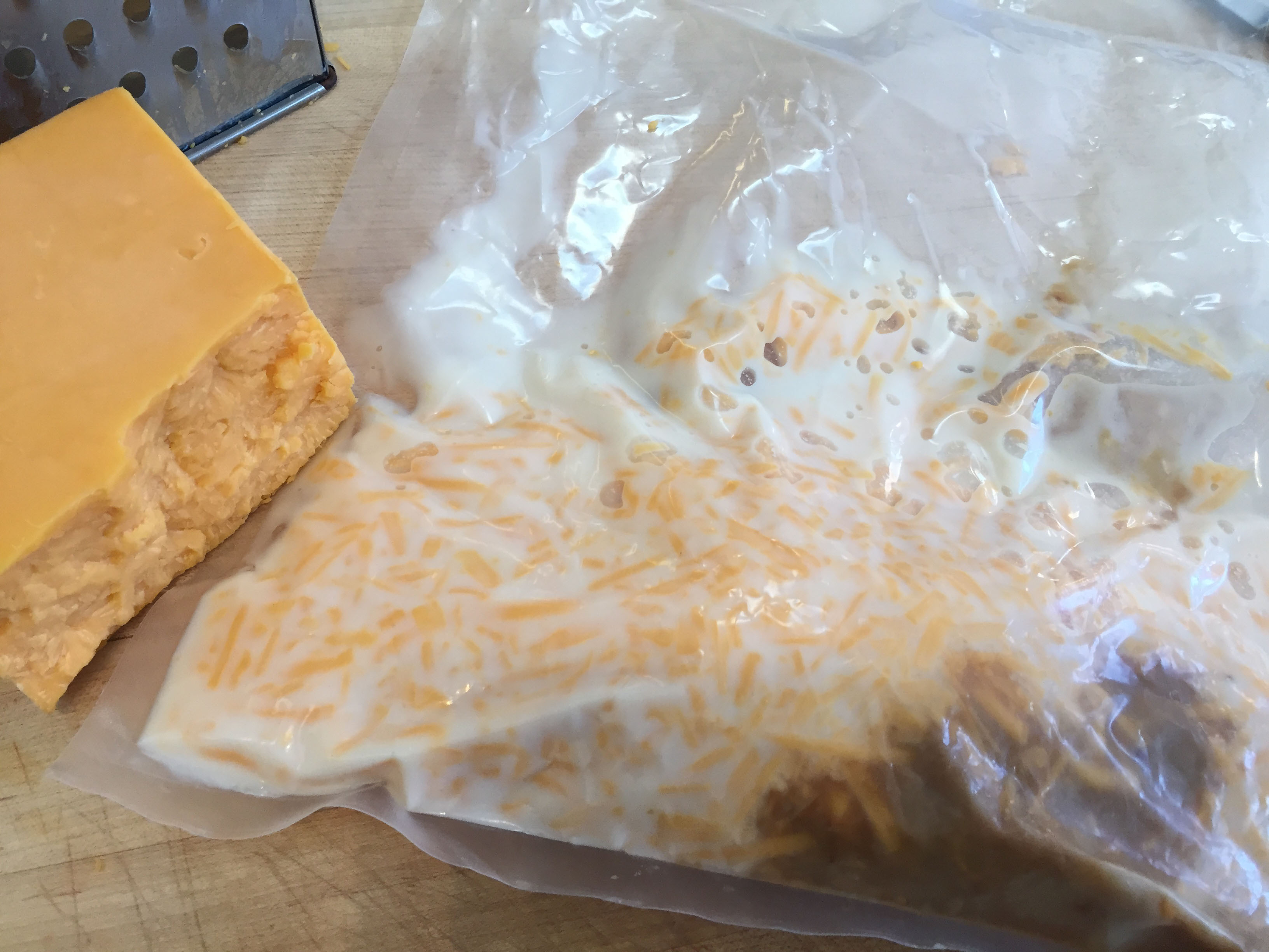 Vacuum Sealed Cheese Milk