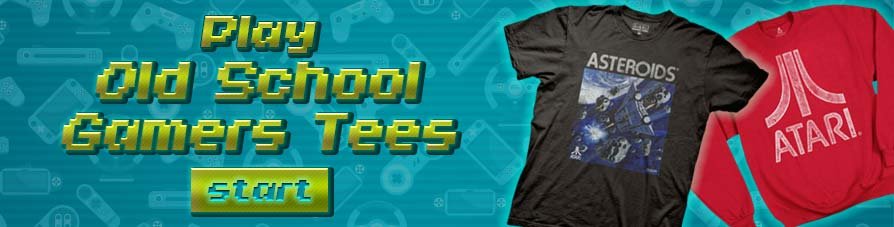 Oldschooltees Shop our Old School Video game Tees