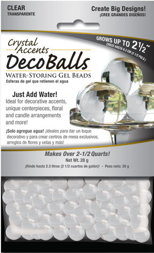 Crystal Accents Deco Balls 1 oz Retail Pack Clear