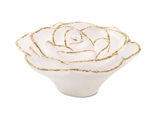 Rose Wax Floater White w/ Gold Glitter