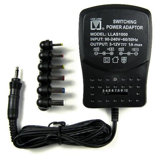 Switching Power Regulated Adapter, 3V - 12V