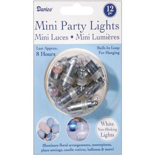 Non-Blinking Mini Party Lites 12/Pkg: White