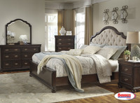 B596 Moluxy Dark Brown Bedroom