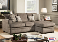 72246 Pewter Doris Sofa Chaise