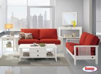 COMBO 6 Pcs. - 9915 WHITE & RED TOKYO LIVING ROOM