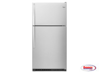 61723 Whirpool | 33-inch Wide Top Freezer Refrigerator - 20 cu. ft.
