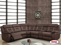 0070 Dark Brown - Pecan Sectional Living Room