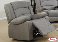 844 Grey Rocker Recliner James