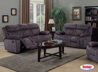 30011 Smoke Reclining Living Room Set